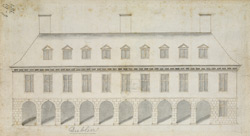 A Drawn Elevation of the Front of Dublin Castle